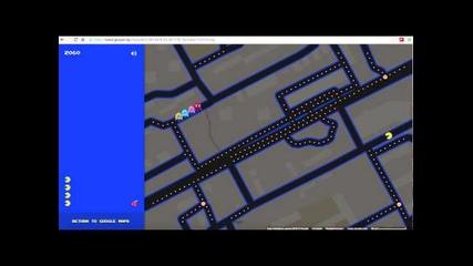 Google превърнаха Maps в огромно Pac-man забавление