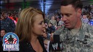 Michelle Beadle interviews Col. Hodges: Tribute to the Troops 2013