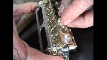 Най-малкия в света V12 двигател