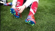 New Messi Boots: F50 Adizero micoach Bundle Ag Synthetic | Unboxing | freekickerz