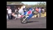 Street Motorcycle Stunt Crash Highlight Clips