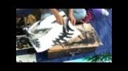 Талантлив млад художник от Янгон, Мианмар