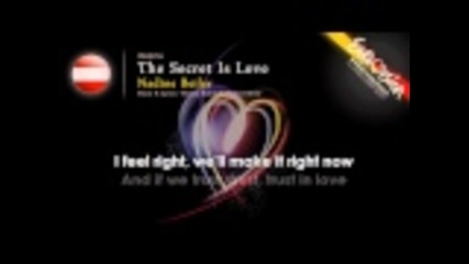 "Nadine Beiler ""the Secret Is Love"" (austria) - Esc 2011 - onscreen lyrics"