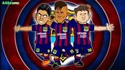 Msn Song! Bayern Munich vs Barcelona 3-2 Parody (champions League Semi-final 2015 Goals Neymar)