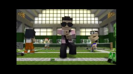 minecraft gangnam style parody
