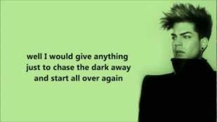 Adam Lambert - Take back lyrics