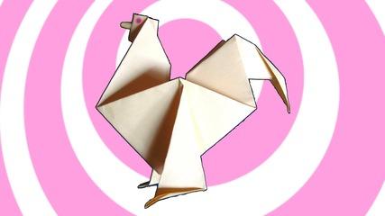 Как да си направим оригами петел