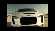 Audi Quattro Concept and 80's Audi Sport Quattro - Driving Scenes
