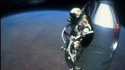 Felix Baumgartner's supersonic freefall from 128k'