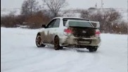 Subaru Wrx Sti Snow Fun