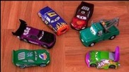 Cars Color Changers Darrell Cartrip, Boost, Mater, Wingo, Dinoco Mcqueen Colour Shifters Demo