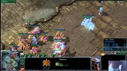 Starcraft2- Spaski Pz vs Pz Забавна игра интересна компресираща стратегия по въздух и земя