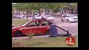 Скрита камера - Уличен баскетбол и потрошени коли