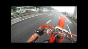 Cr500 Moscow ride without rules and brain
