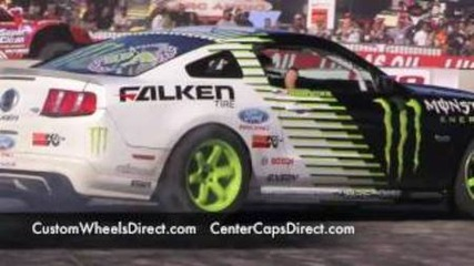 Sema Show 2010 Gymkhana Ken Block and Vaughn Gittin Racing Monster Ford Mustang Rtr Gymkhana