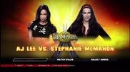 "Aj Lee vs. Stephanie Mcmahon: ""wwe 2k14"""