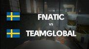 Fnatic vs Teamglobal on de_train (3rd map) @ Hitbox