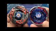 Beyblade Bb-108 L Drago Destroy F:s vs Bb-105 Big Bang Pegasis F:d