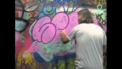 Throw-up by Seen the Graffiti Legend!