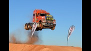 Semi Truck Jump, Prime mover Video 2 Australia extreme live Loveday 4x4 Park rum jungle trucking