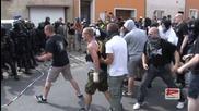 Чешки националисти против полицията 100% Асав