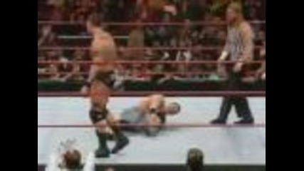 john cena vs randy orton with special refere (hhh) part 1