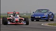 Can Porsche's 911 Turbo S outrun a Formula 4 car?