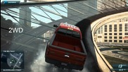 Need For Speed Most Wanted 2012 Сравнение на 2wd и 4wd