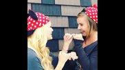 Olivia Holt and Gracie Benward at Disneyland.