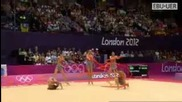 Team Bulgaria 3 ribbons 2 hoops final - Olympic games London 2012