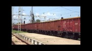 Бжк с локомотиви 87 012 и 87007 с товарен влак