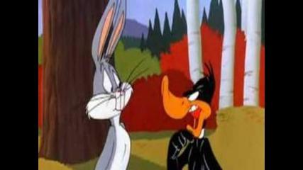 Най - големия спор между Бъгс Бъни и Дафи Дак