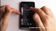 Blackberry Z30 Видео ревю - Apps