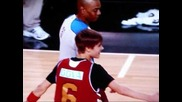 Justin Bieber Fumbles at 2011 Nba Celebrity All-star Game (first Blooper Reel -