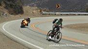 Каране на електрическо колело с 80 км/ч