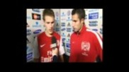 Great interview with Ramsey and Van Persie 29/10/2011