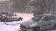 Епическа снежна буря в Сливен 19.12.2012
