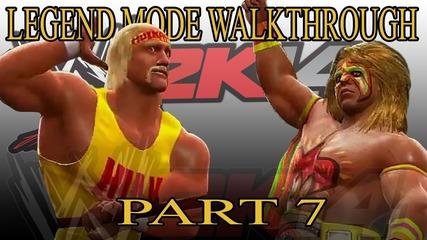 Hulk Hogan vs Ultimate Warrior - 30 Years of Wrestlemania Walkthrough Wwe 2k14 Part 7
