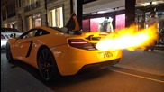 Mclaren 12c Shooting Huge Flames + Melted Bumper!!