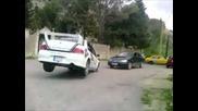 Rally driver's killer reflexes