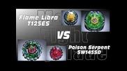 Flame Libra T125es Vs Poison Serpent Sw145sd