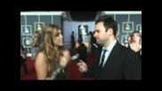 53rd Grammy Awards - Miley Cyrus Interview