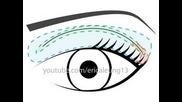 Урок: Грим за различни видове гънки на очите (с диаграми!)