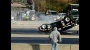 Chevette Wheelie and Flip at a Wheelie Contest