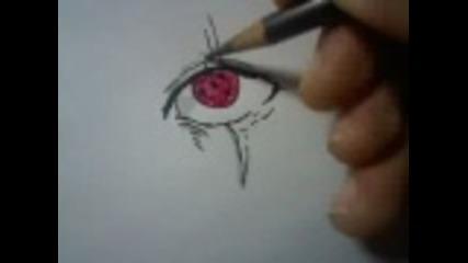 Как да нарисуваш шарингана на Какаши