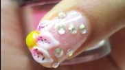 how to do 3d acrylic nail designs and simple white flower