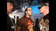 John Cena Hbk And Mr Mcmahon Funny Backstage Moment