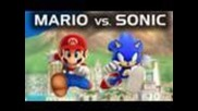 Mario vs. Sonic (super Smash Bros Brawl Machinima)