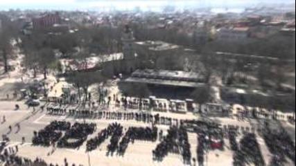 3 март 2013, Варна: Флашмоб пред Катедралата
