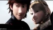Как да си дресираш дракон 2 Астрид и Хълцук се целуват !